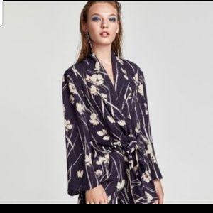 Zara Floral Suit Sz L